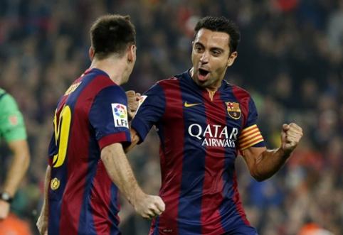 Xavi apie pirmąją L. Messi treniruotę: aš negalėjau patikėti savo akimis