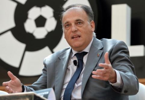 """""""La Liga"""" prezidentas pažadėjo VAR technologiją: įvartį matė visas pasaulis"""
