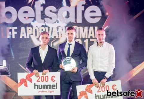 Geriausio Lietuvos metų futbolininko titulas ir vėl atiteko F. Černychui (visi apdovanojimai)