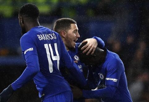 """FA taurė: """"Chelsea"""" į kitą etapą prasibrovė tik po baudinių serijos (VIDEO)"""