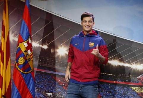 """""""Barcelona"""" P. Coutinho debiuto turės palaukti - brazilas dėl traumos nežais tris savaites"""
