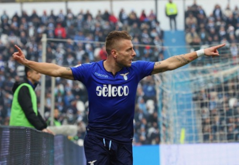 """Italijoje - C. Immobile pokeris, """"Juventus"""" bei """"Napoli"""" pergalės ir """"Roma"""" nesėkmė (VIDEO)"""