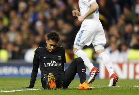 """U. Emery tiki, kad Neymaras gali atvesti PSG į pergalę prieš """"Real"""""""