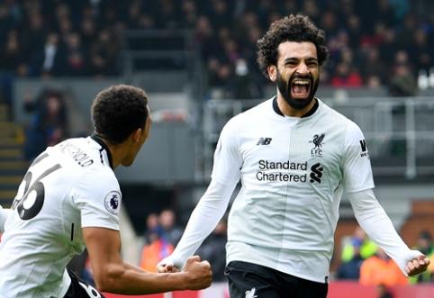 """M. Salah įvartis rungtynių pabaigoje atvedė į pergalę """"Liverpool"""" (VIDEO)"""