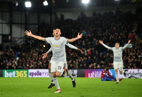 """Sensacingas N. Matičiaus smūgis nulėmė dramatišką """"Man Utd"""" pergalę prieš """"Crystal Palace"""" (VIDEO)"""
