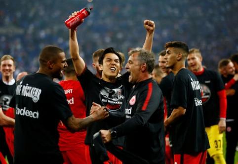 ''Eintracht'' palaužė ''Schalke'' ir žais Vokietijos taurės finale (VIDEO)