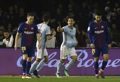 Dešimtyje likusi ''Barca'' išleido pergalę prieš ''Celta'' (VIDEO)