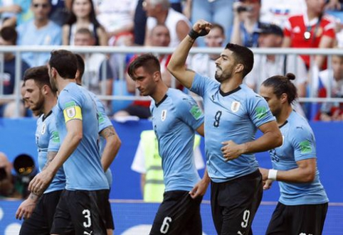 Problemų su rusais neturėjęs Urugvajus – A grupės nugalėtojas (VIDEO)