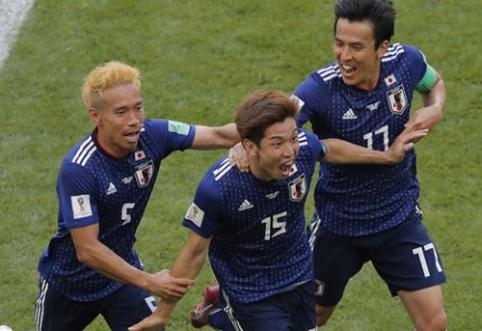 Beveik visas rungtynes mažumoje žaidusi Kolumbija neatsilaikė prieš japonus