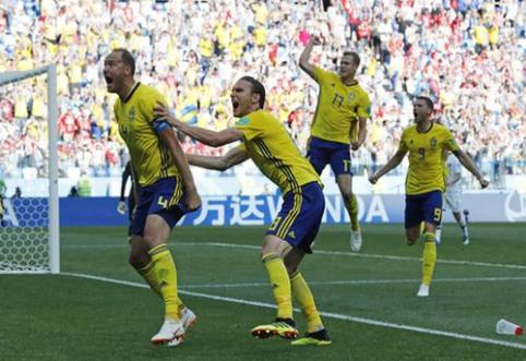 Švedija su VAR pagalba įveikė Pietų Korėją (VIDEO)
