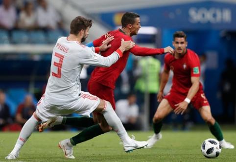 G. Pique: Cristiano yra linkęs dažnai griūti ant žemės