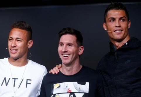 Tarp daugiausiai uždirbusių planetos sportininkų ir trys futbolo superžvaigždės