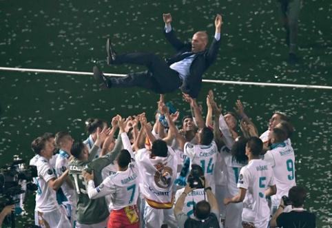 """Su Z. Zidane'u socialinėje erdvėje iš """"Real"""" komandos neatsisveikino tik vienas žaidėjas"""