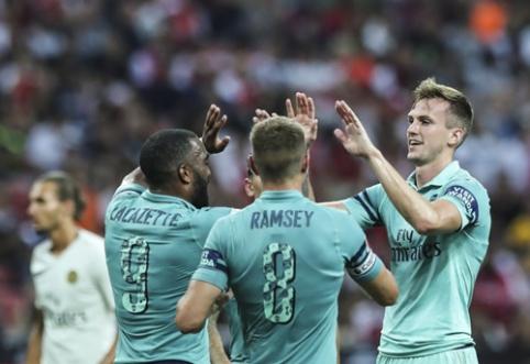 """""""Arsenal"""" nepaliko vilčių PSG jaunimui (VIDEO)"""