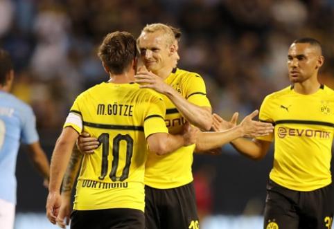 """Draugiškose rungtynėse - """"Borussia"""" pergalė prieš Anglijos čempionus (VIDEO)"""