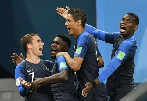 Pergalingą belgų žygį sustabdę prancūzai - pasaulio čempionato finale (VIDEO)