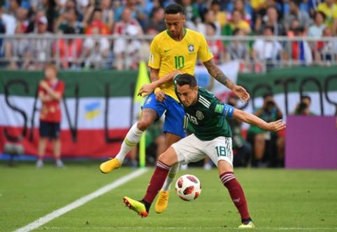 Neymaro žodžių nepamiršęs A. Guardado įgėlė iš čempionato iškritusiam brazilui
