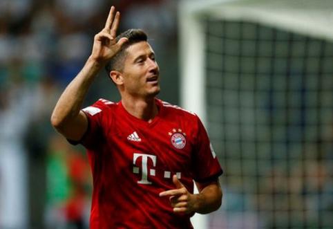 """Vokietijos Supertaurėje - R. Lewandowskio šou ir triuškinanti """"Bayern"""" pergalė (VIDEO)"""