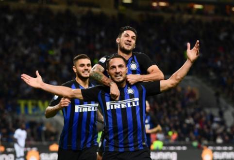 """""""Inter"""" braunasi atgal tarp lyderių: po atkaklios kovos palaužė """"Fiorentina"""""""