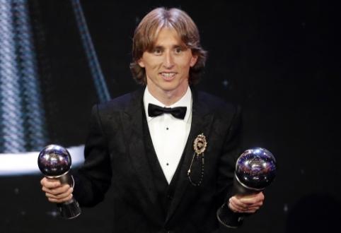 """L. Modričiaus kalba FIFA apdovanojimų ceremonijoje: """"Tikiuosi, kad mūsų pasirodymas Rusijoje įkvėps ateities kartas"""""""