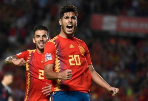 M. Asensio vedami ispanai pažemino pasaulio vicečempionus, belgai susitvarkė su Islandija