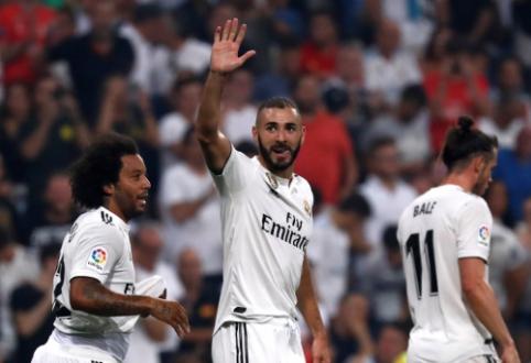 """K. Benzema vėl svariai prisidėjo prie """"Real"""" pergalės, """"Celta"""" nubaudė """"Atletico"""""""