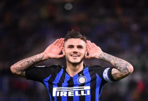"""Romoje triumfavę """"Inter"""" futbolininkai pakilo į antrąją vietą """"Serie A"""" čempionate"""