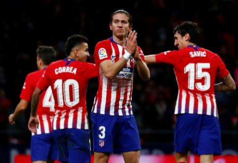 """Gynėjų įvarčiai atvedė """"Atletico"""" į pergalę Ispanijos pirmenybėse"""
