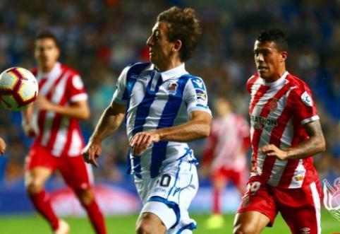 """Ispanijoje - """"Real Sociedad"""" ir """"Girona"""" klubų lygiosios"""