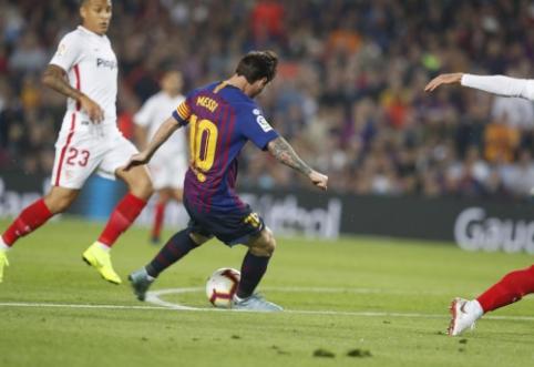 ''Barcos'' pergalę prieš ''Sevilla'' apkartino L. Messi trauma, ''Atletico'' neįveikė ''Villarreal''