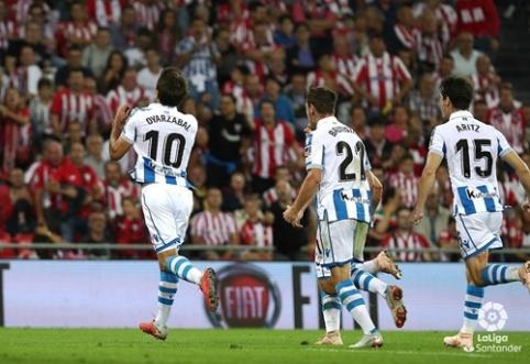 """Baskų derbyje - keturi įvarčiai ir """"Real Sociedad"""" pergalė"""