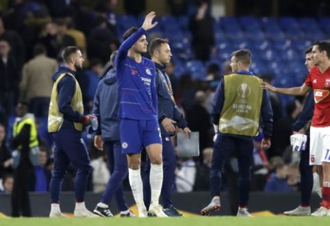 """""""Chelsea"""" minimaliu skirtumu įveikė svečius iš Vengrijos, įvarčių fiestoje Frankfurte - """"Eintracht"""" pergalė"""