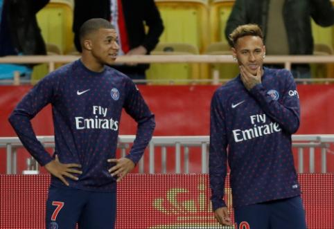Neymaras ir K. Mbappe greičiausiai padės PSG ekipai žūtbūtinėje dvikovoje