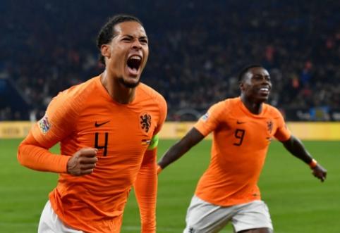 Nyderlandai sensacingai išsigelbėjo Vokietijoje ir pateko į Tautų lygos finalinį ketvertą