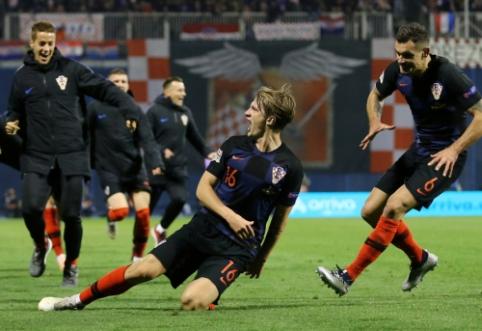 Įspūdingą dvikova Zagrebe baigėsi Kroatijos rinktinės revanšu prieš ispanus