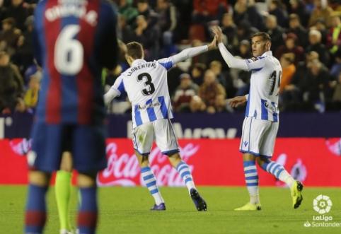 """Puikią atkarpą antrajame kėlinyje sužaidęs """"Real Sociedad"""" įveikė """"Levante"""""""