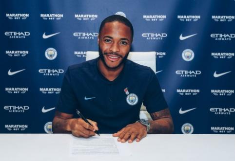 """R. Sterlingas padėjo parašą ant naujos sutarties su """"Man City"""""""