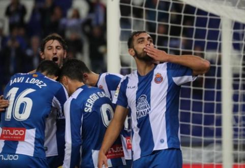 """""""Espanyol"""" pratęsė savo pasaką Ispanijoje, """"Athletic"""" - sezono agoniją"""