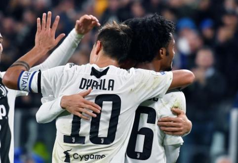 """""""Juventus"""" iškovojo pergalę, """"Fiorentina"""" ir """"Roma"""" mače užfiksuotos lygiosios"""