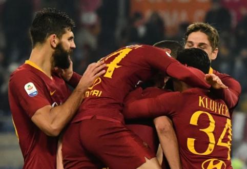 """""""Serie A"""": """"AS Roma"""" antrajame kėlinyje įrodė pranašumą prieš """"Genoa"""""""