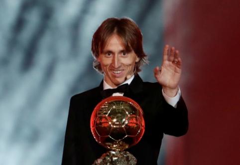 """""""Ballon d'Or"""" rinkimuose triumfavęs L. Modričius: """"Tai pranoko mano svajones"""""""