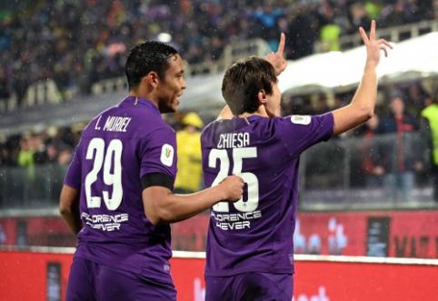 """""""Coppa Italia"""": """"Fiorentina"""" namuose išniekino """"Roma"""" ekipą"""