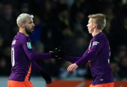 """Pirmajame mače varžovus pažeminęs """"Man City"""" – lygos taurės finale"""