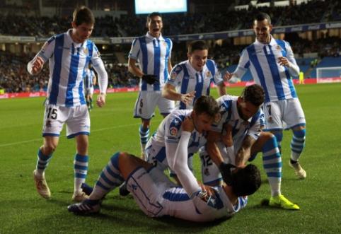 """""""Real Sociedad"""" rezultatyvioje kovoje pranoko """"Espanyol"""""""