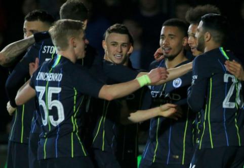 """""""Man City"""" nesudėtingai žengė į FA taurės ketvirtfinalį"""