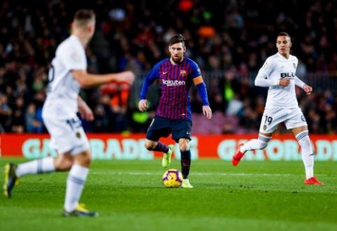 """L. Messi išgelbėjo """"Barcą"""" nuo pralaimėjimo """"Valencia"""" komandai"""