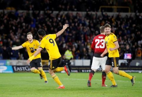 """""""Wolves"""" iš FA taurės išmetė """"Man Utd"""", """"Man City"""" žengė tolyn"""