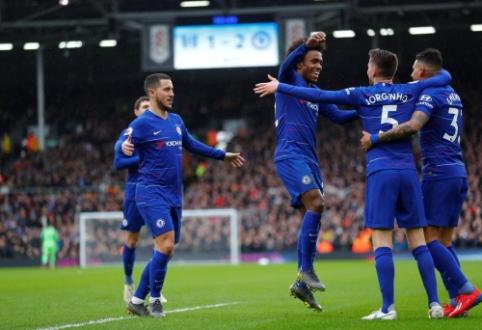 """""""Chelsea"""" įveikė """"Fulham"""", """"Watford"""" apkartino B. Rodgerso sugrįžimą"""