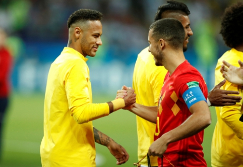 """Neymaras: """"Norėčiau rungtyniauti vienoje komandoje su Hazardu"""""""