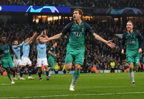 """Rungtynės, kurių nepamirš niekas: """"Tottenham"""" neįtikėtinoje dramoje iškovojo kelialapį į ČL pusfinalį"""